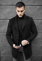 Пальто мужское кашемировое демисезонное / черное