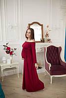 671003 Красивое платье для беременных Бордовое L
