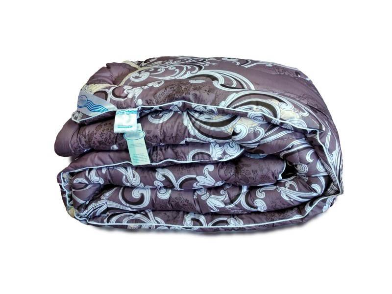 Одеяло холлофайбер зимнее сатин 140х205 полуторное