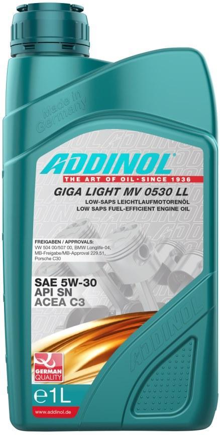 Моторное масло Addinol Giga Light MV0530 LL 5W-30 1 л