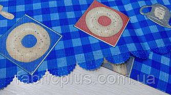 Скатерть тефлоновая 150*220 см синяя клетка