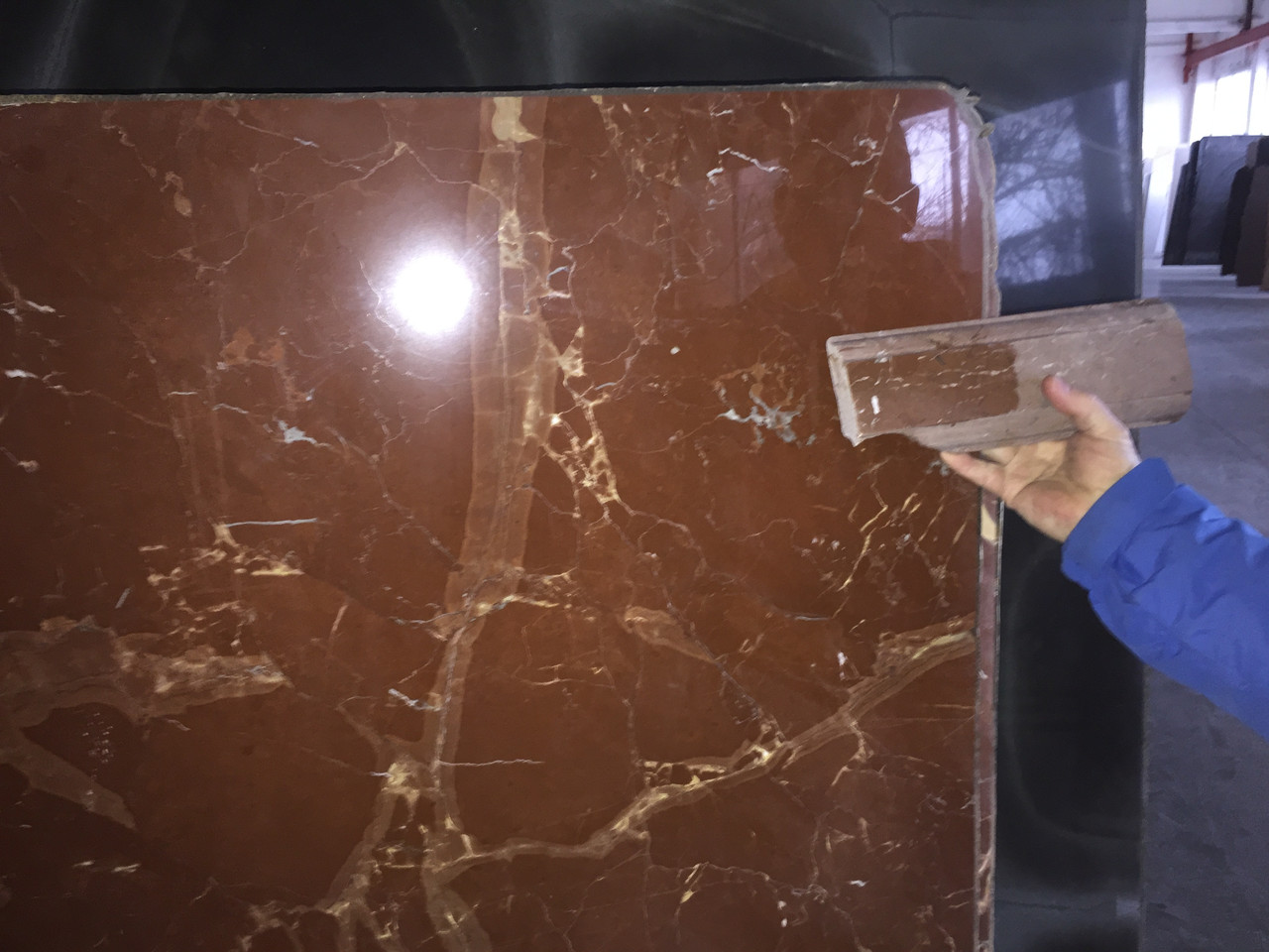 Rosso Collemandina, Мраморный слэб (сляб) 20мм