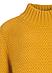 Свитер Zaps Theona горчичного цвета, крупной вязки, фото 3