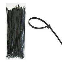 Стяжка монтажная кабельная, хомут 5мм х 200мм черная 100шт
