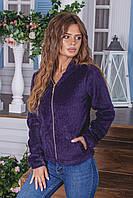 Кофта женская с капюшоном лама весна-осень (42 44 46 48) (цвет фиолет) СП, фото 1