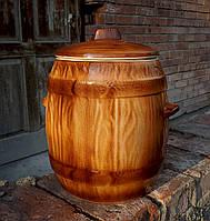 Бочка керамическая для солений 10 л под Дерево, фото 1