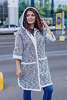Теплый кардиган женский Букле на меху Размер универсальный 48-54, фото 1