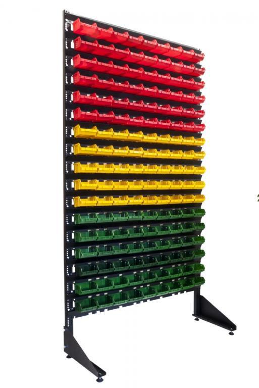 Cтеллаж для метизов с ящиками ART18-153 КЖЗ/тара пластиковые ящики,склад контейнер - Пласт Бокс в Киеве
