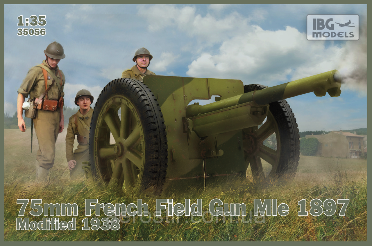 75mm French Field Gun Mle 1897 Modified 1938 1/35 IBG Models  35056