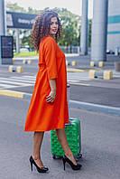 Женское платье свободного кроя Костюмка Размер 48 50 52 54 56 58 60 62 В наличии 3 цвета, фото 1