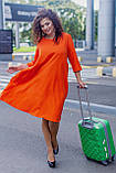 Женское платье свободного кроя Костюмка Размер 48 50 52 54 56 58 60 62 В наличии 3 цвета, фото 2
