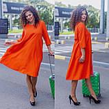 Женское платье свободного кроя Костюмка Размер 48 50 52 54 56 58 60 62 В наличии 3 цвета, фото 8