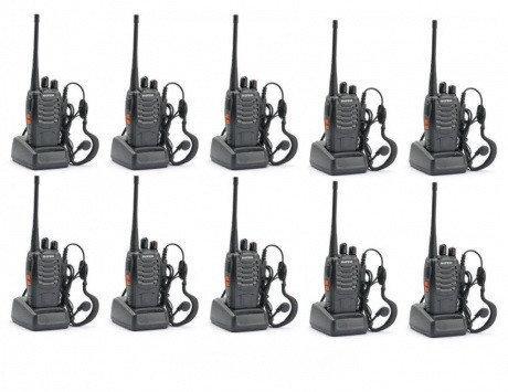 Портативная радиостанция Baofeng BF-888S комплект 10 шт