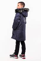 Зимняя удлиненная куртка для мальчика рост 130-145, фото 3