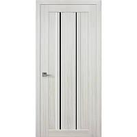 Дверь межкомнатная Верона С1 жемчуг белый 800 мм со стеклом BLK (черное).