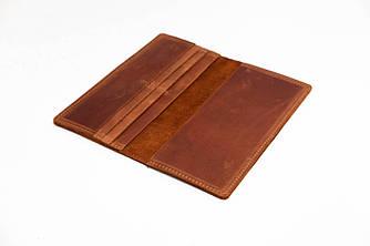 Кошелек Лонг на 6 карт Винтажная кожа цвет Коньяк