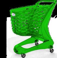 Тележка покупательская пластиковая MINI Glamour 80