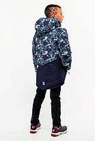 Дитяча зимова куртка з хутряним підстібкою для хлопчика 117-122, фото 2