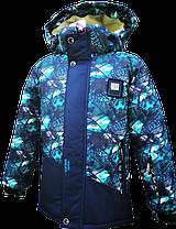 Дитяча зимова куртка з хутряним підстібкою для хлопчика 117-122, фото 3