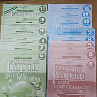 Контурные карты издательство Картографии.