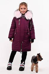 Стильное зимнее пальто для девочки