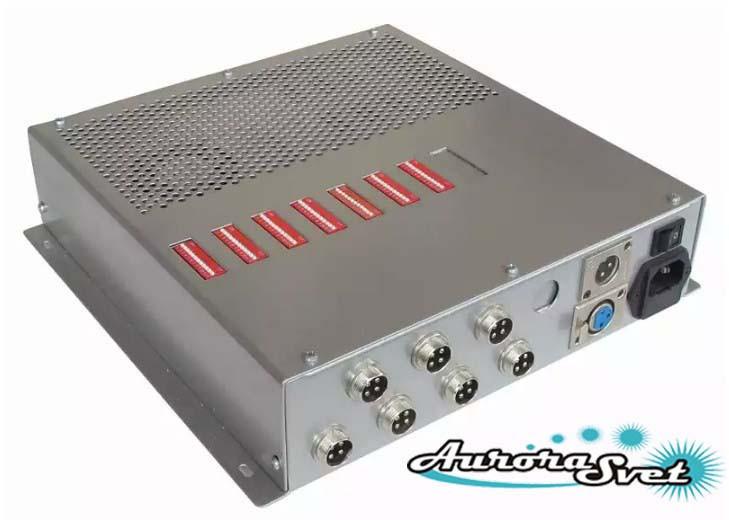 БУС-3-07-400 блок управления светодиодными светильниками, кол-во DMX драйверов - 7, мощность 400W.
