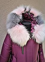 Стильное зимнее пальто для девочки, фото 3