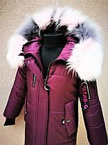 Стильное зимнее пальто для девочки, фото 2