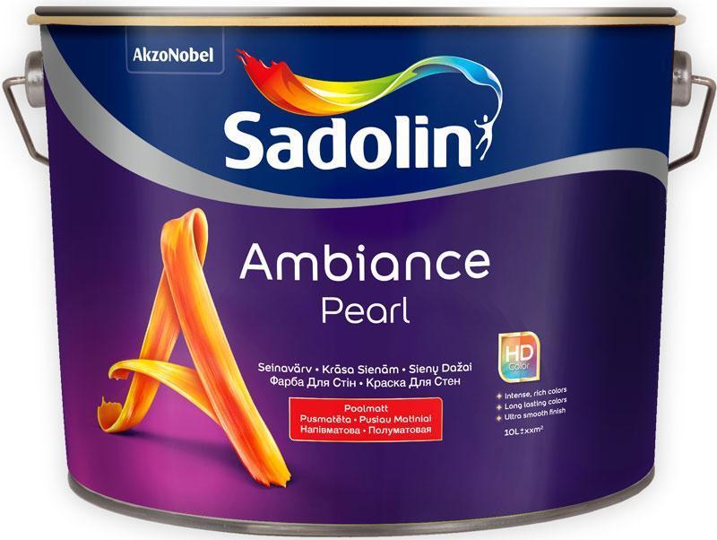 Полуматовая краска для стен Sadolin AMBIANCE PEARL  10 л