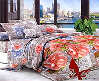 Комплект постельного белья семейный с 2-мя пододеяльниками Поликоттон TAG XHY1517