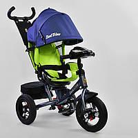 Велосипед Best Trike 7700 В - 7640 поворотное сиденье, надувные колеса, пульт включения света и звука - 153478