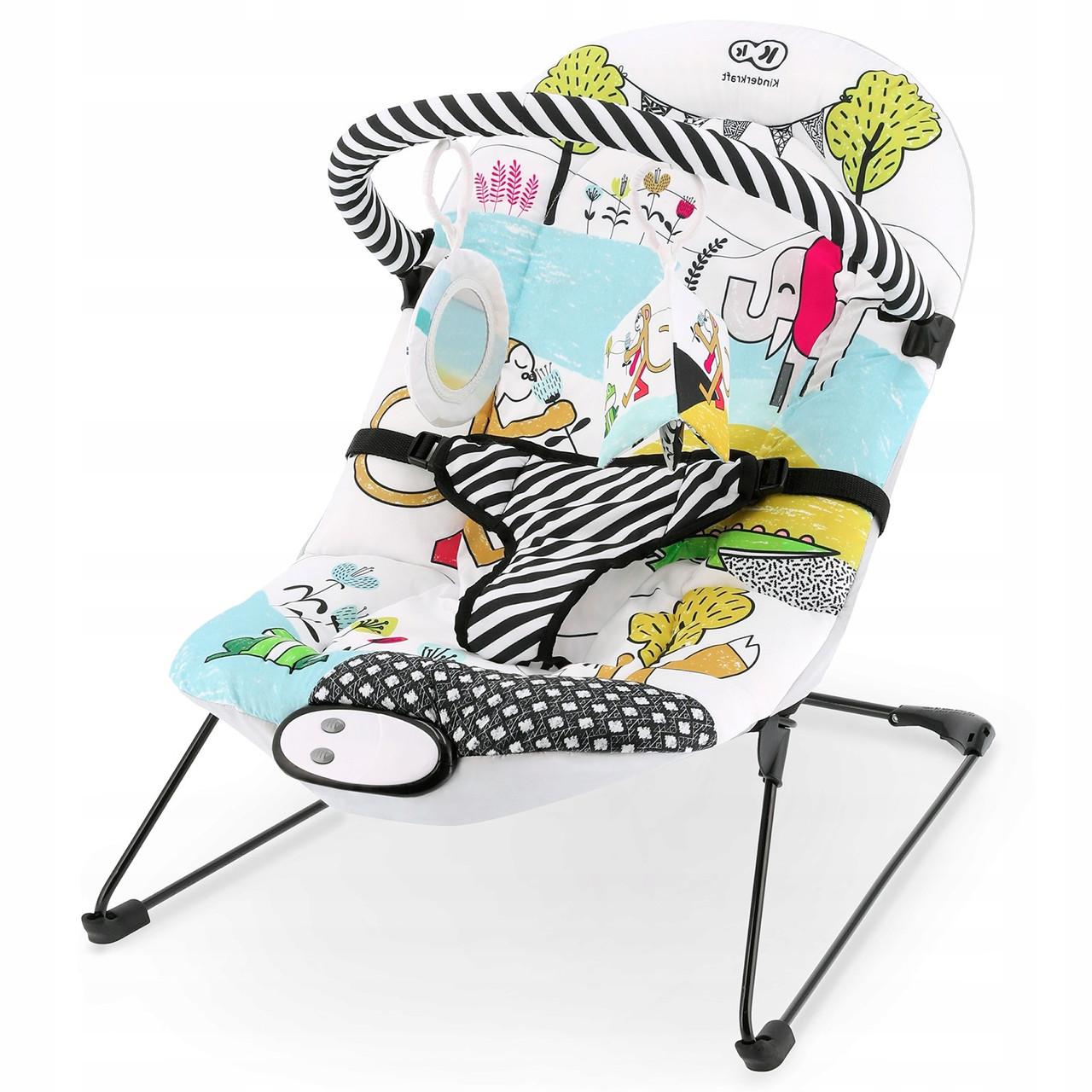 Детское кресло-качалка KinderKraft Smartfun для новорожденных + подвесные игрушки