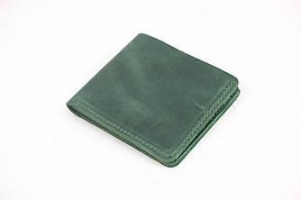 Портмоне классика на 6 карт  Винтажная кожа цвет Зеленый