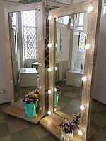 Гримерное зеркало, зеркало с подсветкой, напольное 1800х800