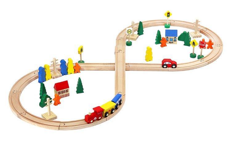Деревянная железная дорога MALATEC 50 ел 5900779931244