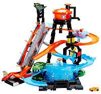 Игровой набор Hot Wheels Взрыв цветов Водонапорная башня, фото 1