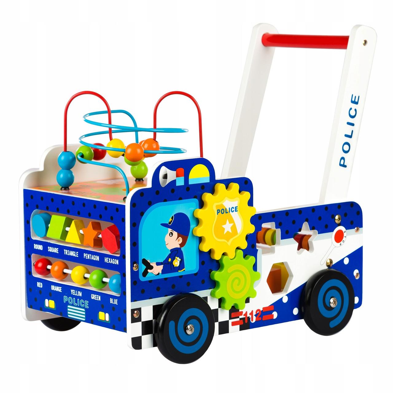 Детская каталка ходунки развивающая Kinderplay Полиция GS0009