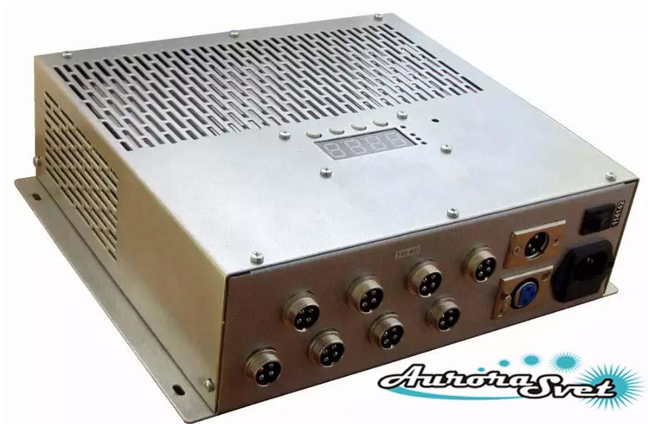 БУС-3-08-350MW-LD блок керування світлодіодними світильниками, кількість драйверів - 8, потужність 350W.