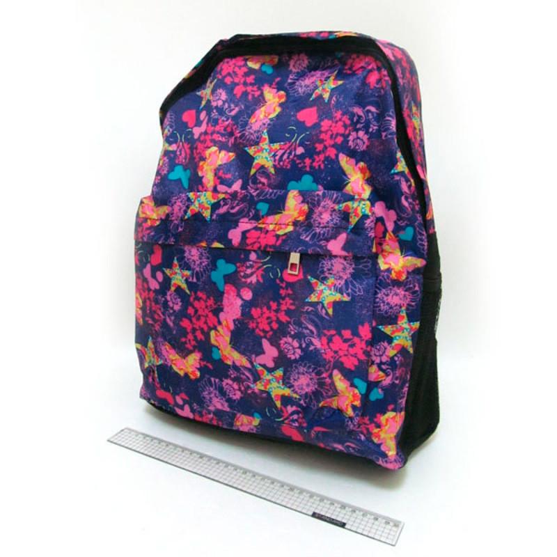 "DSCN0637-B-1 Рюкзак с карманом ""Бабочки"" 42*30*13см"
