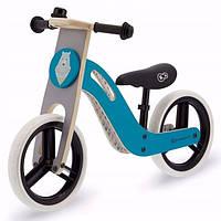 Велобег детский деревянный Kinderkraft Uniq голубой (беговел, самокат-беговел, детский транспорт), фото 1