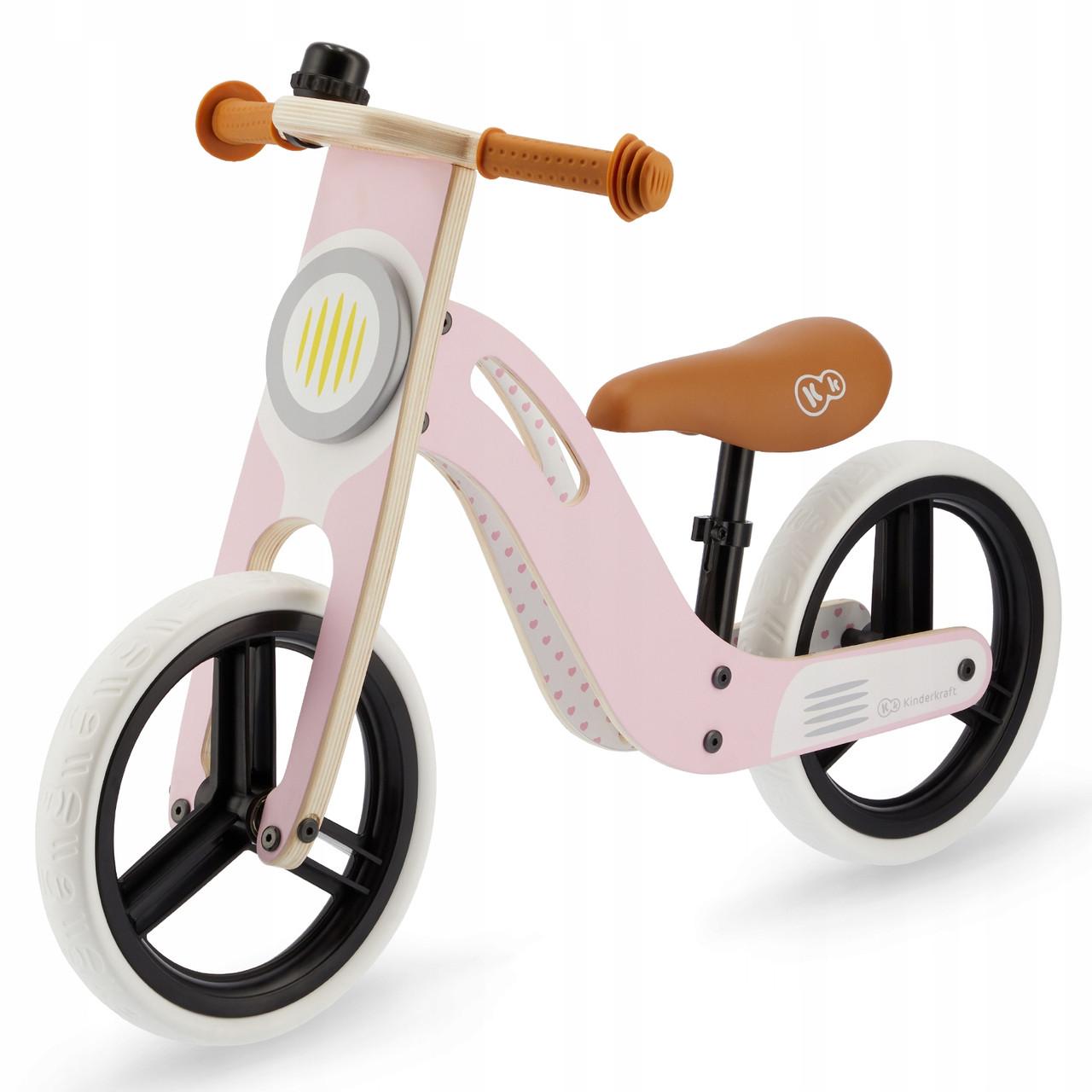 Велобег деревянный Kinderkraft Uniq розовый
