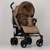 Детская коляска-трость El Camino Rush ME 1013L лен, бежевая - 154606