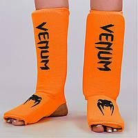Защита голени и стопы чулочного типа Venum  (полиэстер,р-р S-XL, оранжевый)