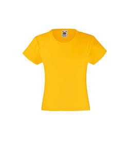 Футболка для девочек Valueweight Солнечно Желтый 104 см
