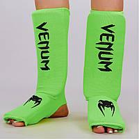 Защита голени и стопы чулочного типа Venum  (полиэстер, р-р S-XL, зеленый)