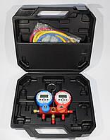 Манометрический коллектор электронный 2-х вентильный KQF-338A (+шланги 3х90см)