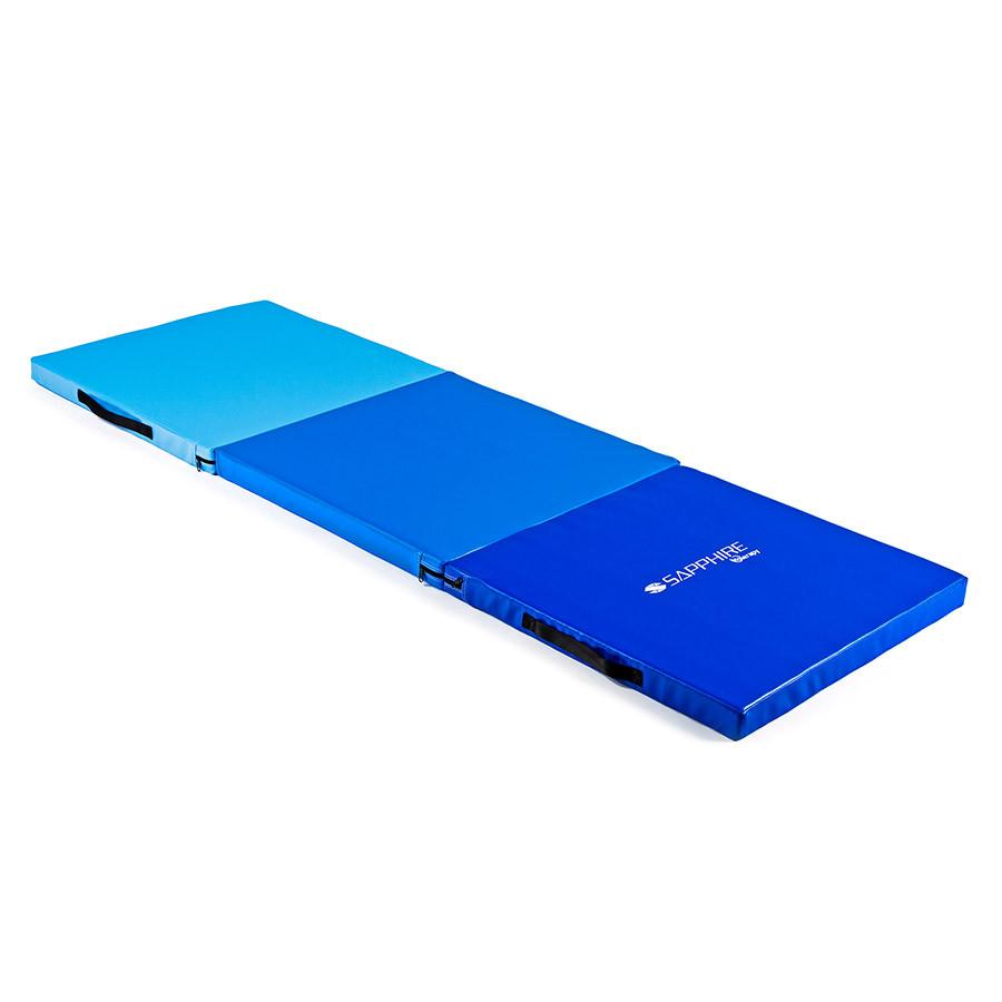 Мат спортивный гимнастический Sapphire SH-110 (складной гимнастический мат)