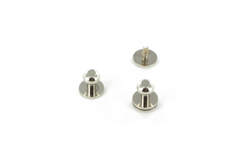 Кобурная кнопка латунная 4,5 мм Полированный никель (NP)
