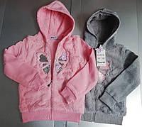 Кофта  с капюшоном  на молнии  на девочек  можно как курточку носить 128/164 см