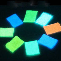 Светящийся порошок флуоресцентный для декора голубой